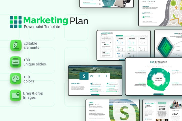 Thumbnail for Marketing Plan Powerpoint Template