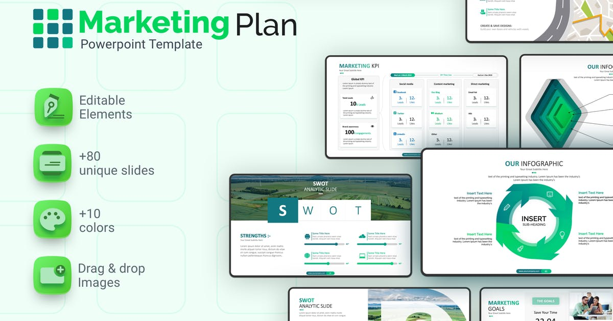 Download Marketing Plan Powerpoint Template by Premast