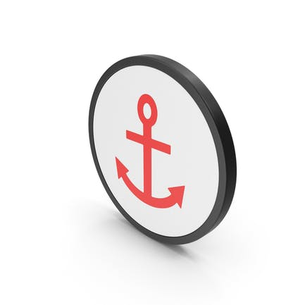 Icon Anchor Red