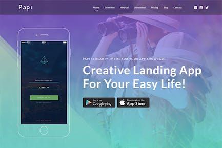 Papi App HTML-Vorlage