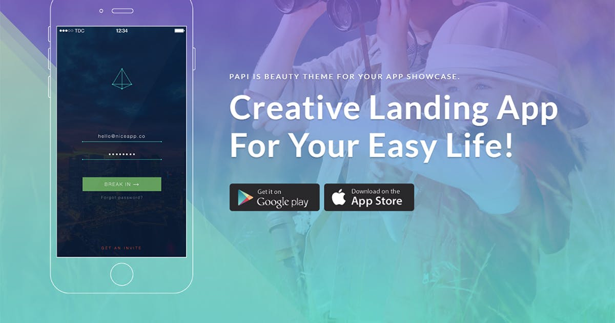 Download Papi App HTML Template by themesflat
