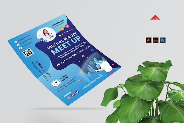dépliant Meetup Classe en ligne