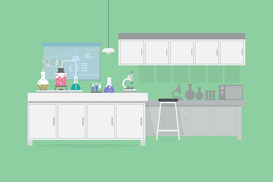 Lab - Illustration Background