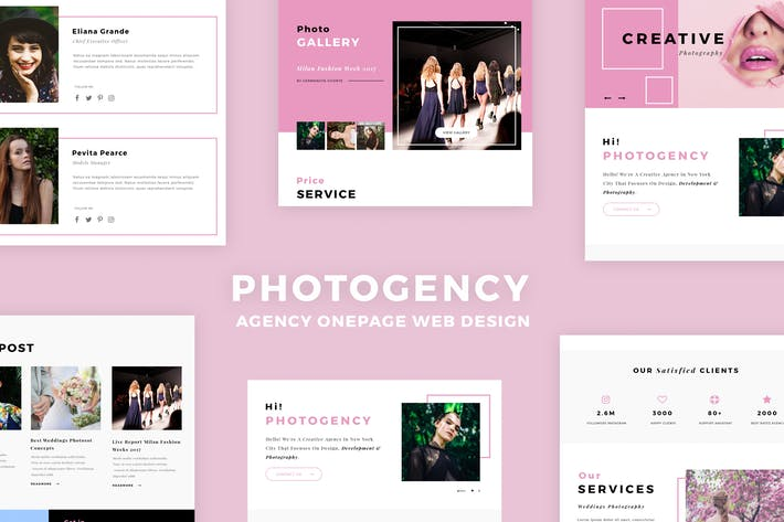 Thumbnail for Photogency Onepage Design