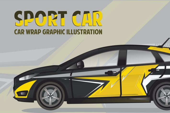 Sport car| Car wrap Graphic