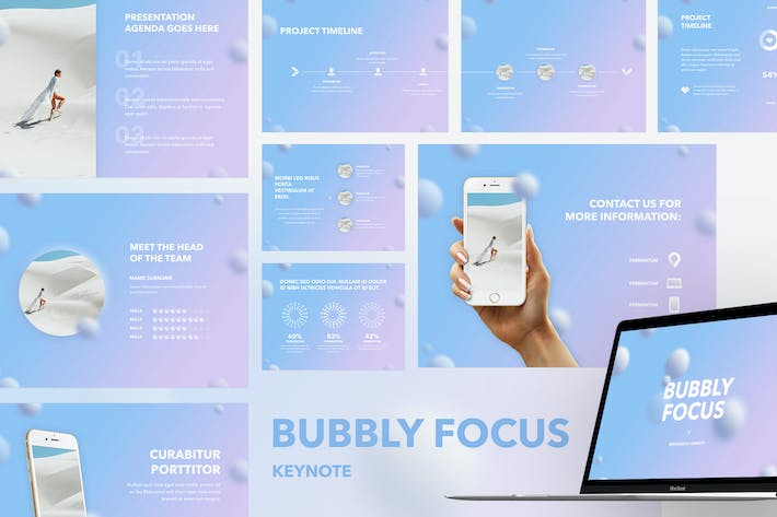 Thumbnail for Plantilla de Keynote Bubbly Focus