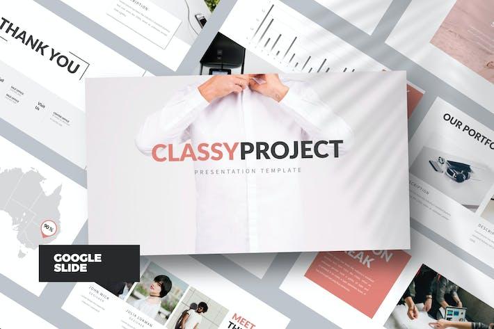 Thumbnail for Classy Minimal Google Slide White Business Corpor