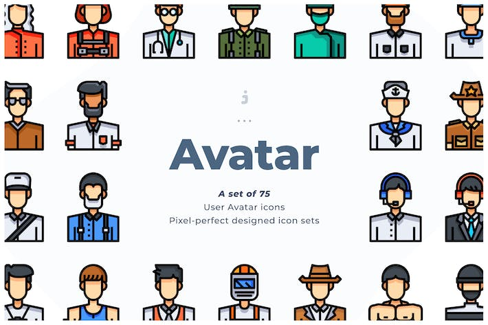 Thumbnail for 75 User Avatar Icons