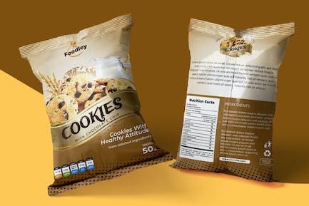Cookies VerpackungsentwurfsVorlage
