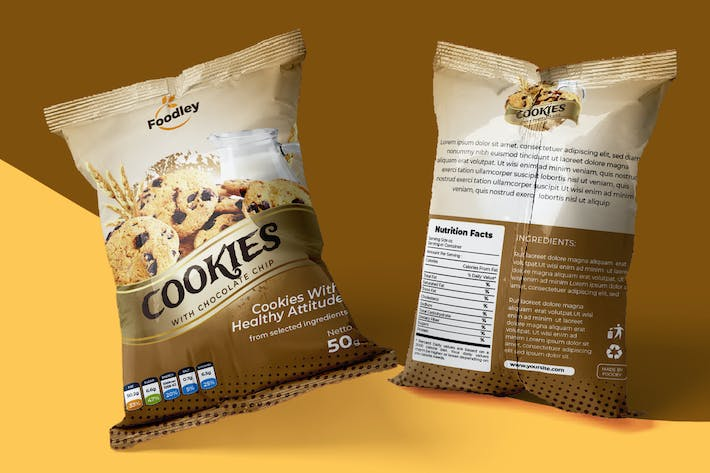 Thumbnail for Cookies Packaging Design Template