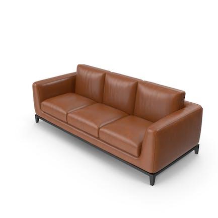 Sofa Light Brown Leather