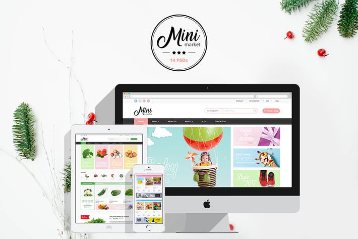 Thumbnail for MiniMarket - Multi-Purpose Grocery PSD Templates