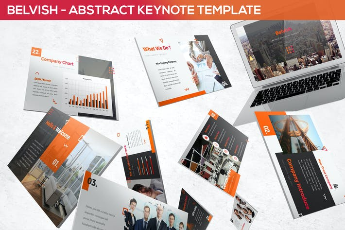 Thumbnail for Belvish - Abstract & Modern Keynote Template
