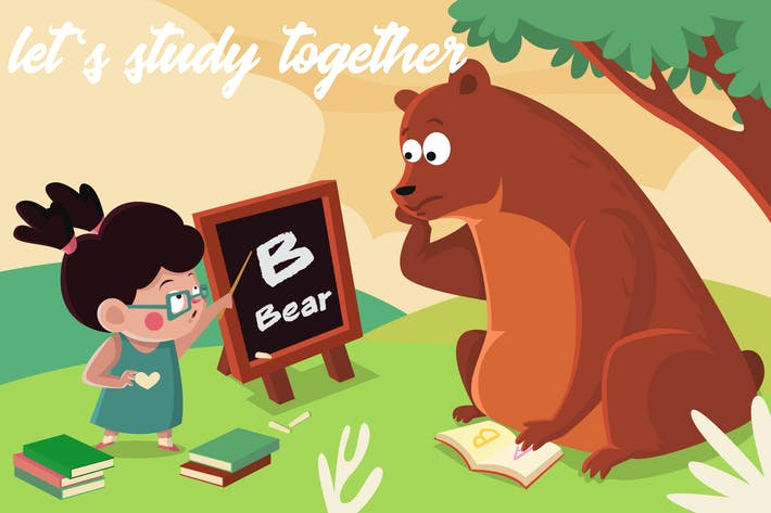 Thumbnail for let's study together - Illustration