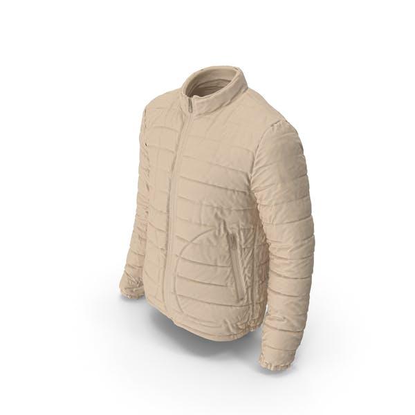 Mens Down Jacket Beige