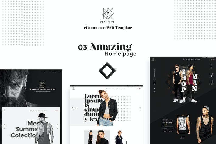 Thumbnail for Platinum - Stylish ecommerce PSD Template