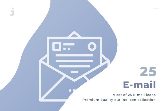 Thumbnail for 25 Email icon set
