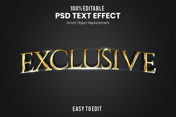Exclusive - Elegant 3D PSD Text Effect