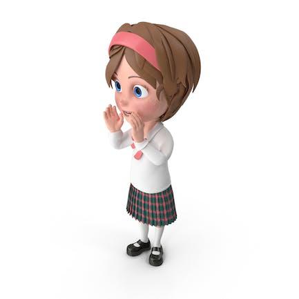 Cartoon Mädchen Jubel