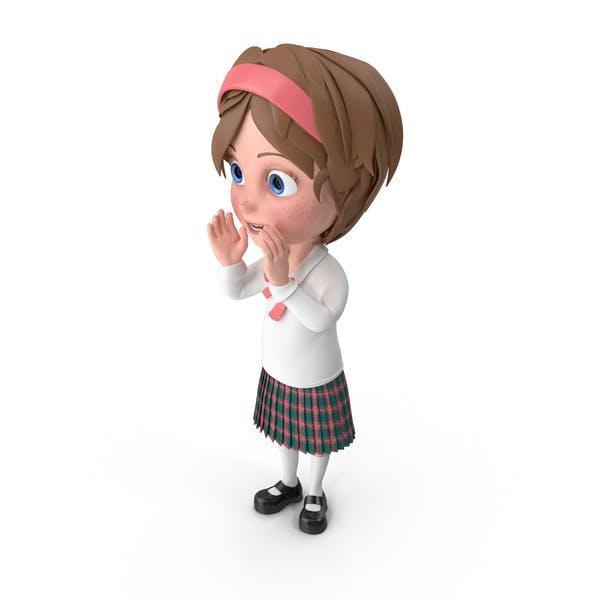 Thumbnail for Cartoon Girl Cheering