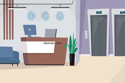 Reception Desk - Illustration Background