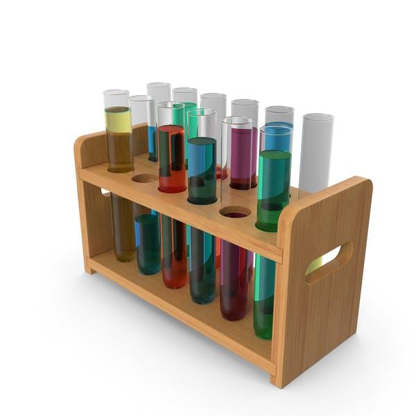 Set of Test Tubes in Rack