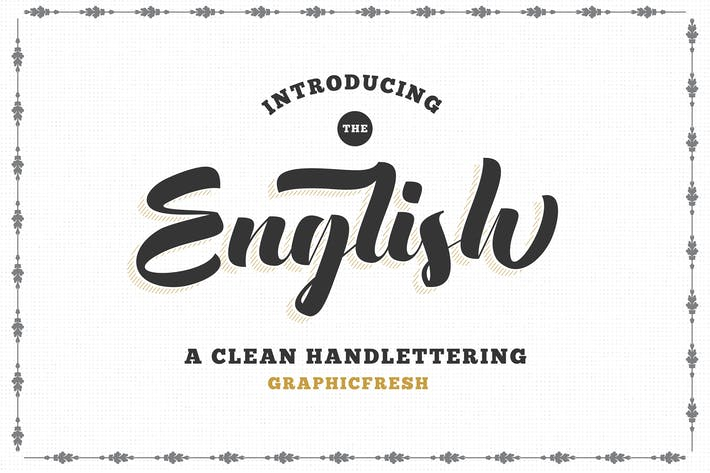 Thumbnail for The English Font - Vintage Lettering
