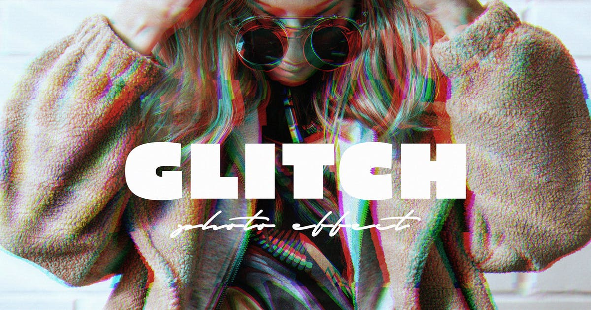 Download VHS Glitch Effect for Photoshop by pixelbuddha_graphic