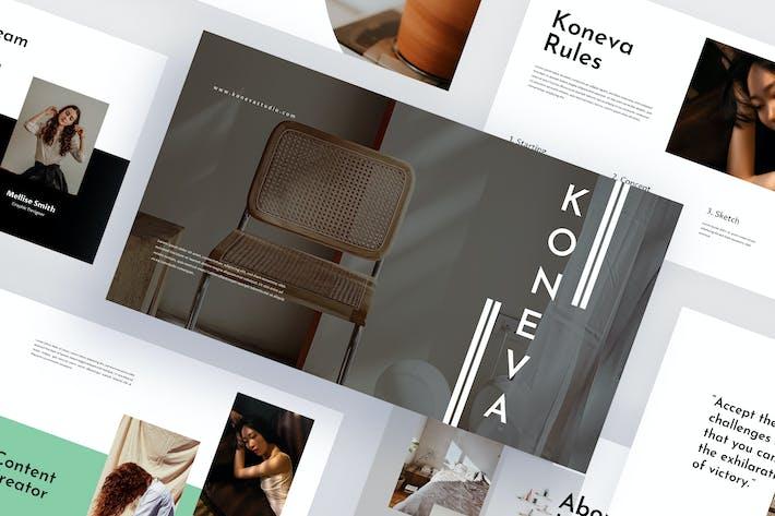 Thumbnail for Koneva - Минималистский шаблон Keynote