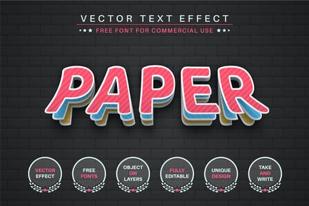 Color layer - editable text effect, font style