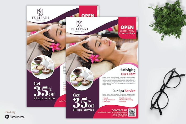 Cover Image For Tulipani Spa - Promotion Flyer RB