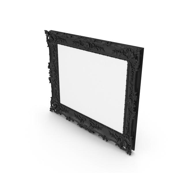 Marco de fotos barroco negro.