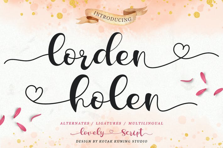 Thumbnail for Lorden Holen - Lovely Script Font