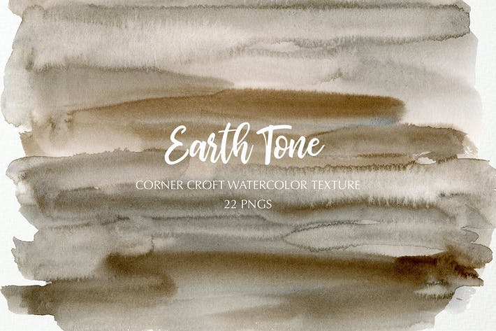 Watercolor texture earth tone