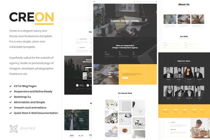 Thumbnail for Creon - Business Joomla Template