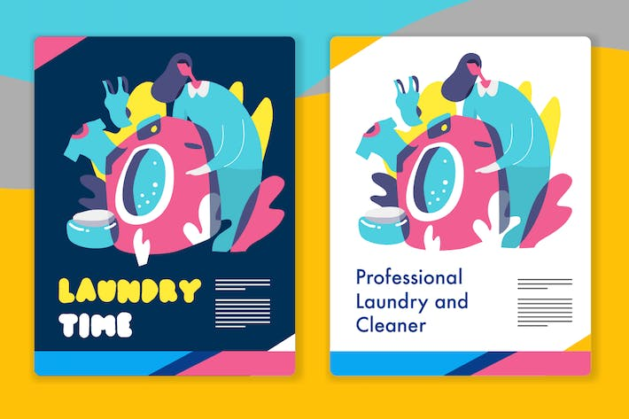 Thumbnail for Laundry Graphic - Mixcolor style vector 5
