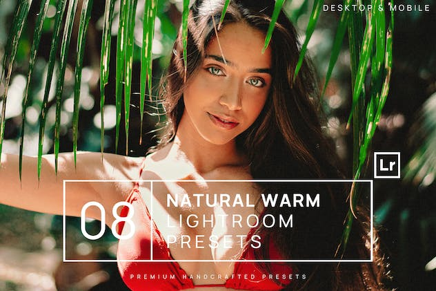 8 Natural Warm Lightroom Presets + Mobile
