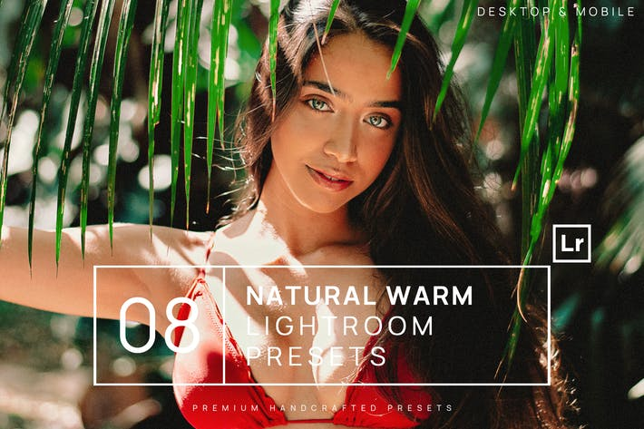 Thumbnail for 8 Natural Warm Lightroom Presets + Mobile