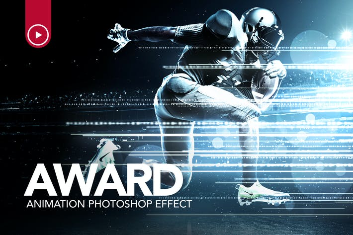 Thumbnail for Award Animation Photoshop Action