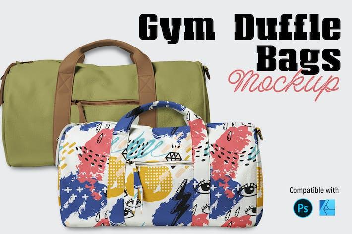 Gym Duffle Bag Mockup
