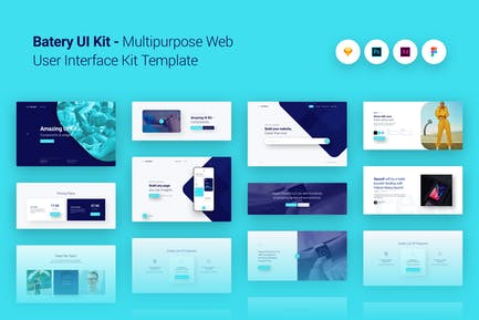 Batery Multi-purpose Web UI UX Kit Template Theme