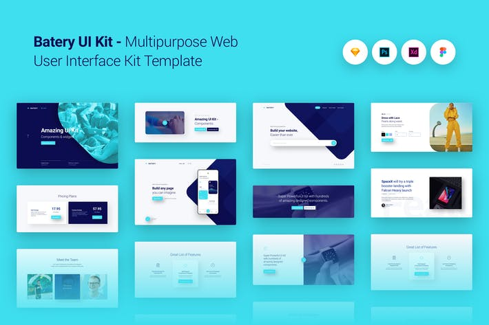 Thumbnail for Batery Multi-purpose Web UI UX Kit Template Theme