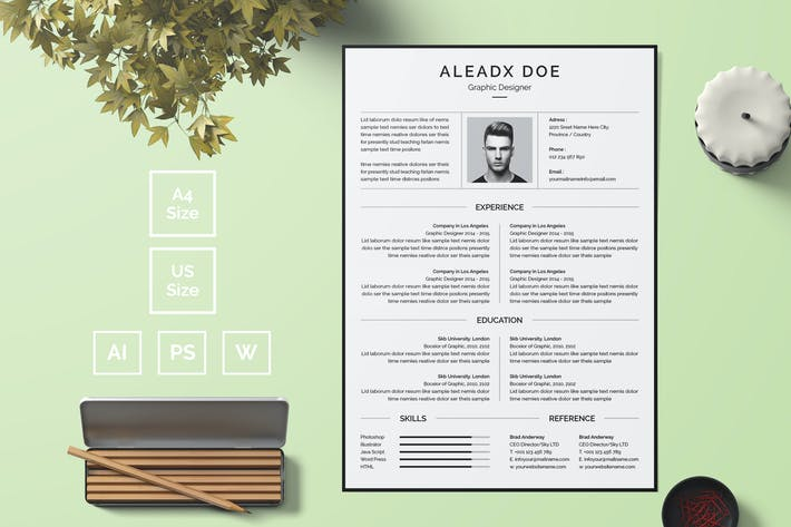 Thumbnail for Resume Template 19