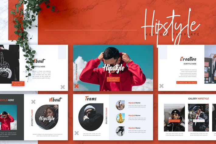 Cover Image For HIPESTYLE - Creative Keynote Template