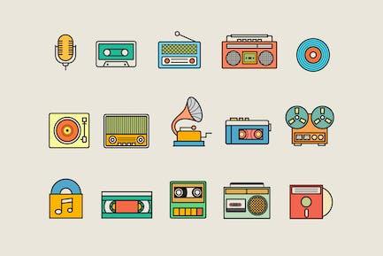 15 Vintage Audio Icons