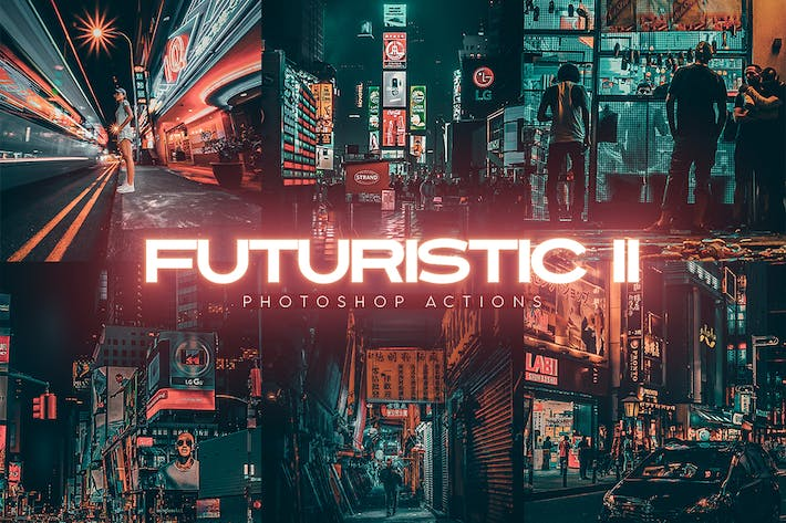 Thumbnail for Futuristic Gen II Photoshop Actions