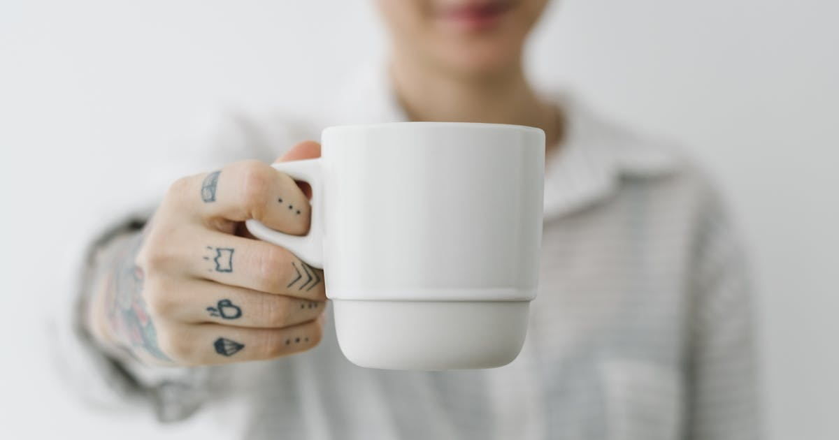 Download Woman having a cup coffee mockup by Rawpixel