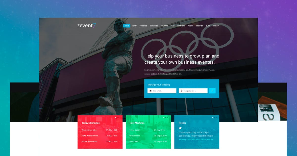 Zevent - Conference & Event PSD Template by Unknow
