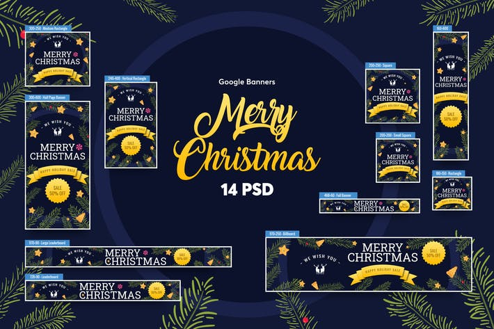 Thumbnail for Merry Christmas Banners Ad