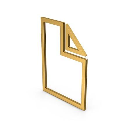 Symbol Electronic File Gold